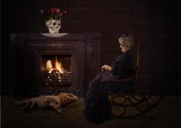 Portrait of gothic grandma Picture