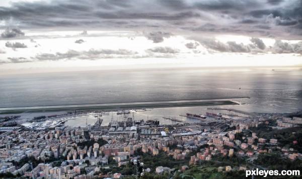 airport Genoa - italy
