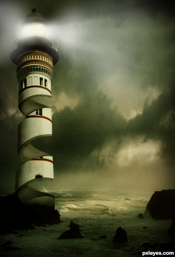Light House photoshop picture