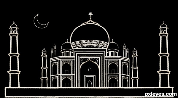 Creation of TAJ MAHAL: Final Result