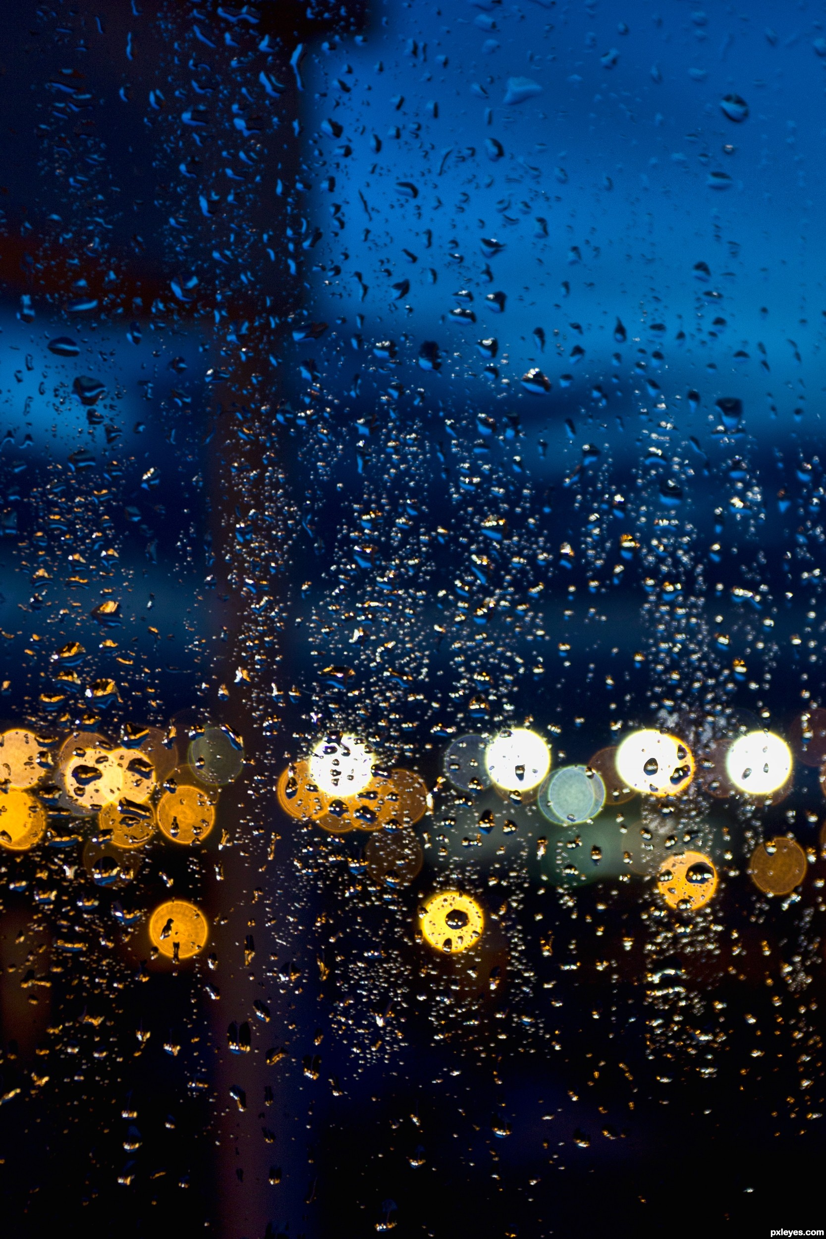 Evening rain picture, by friiskiwi for: window drops ...