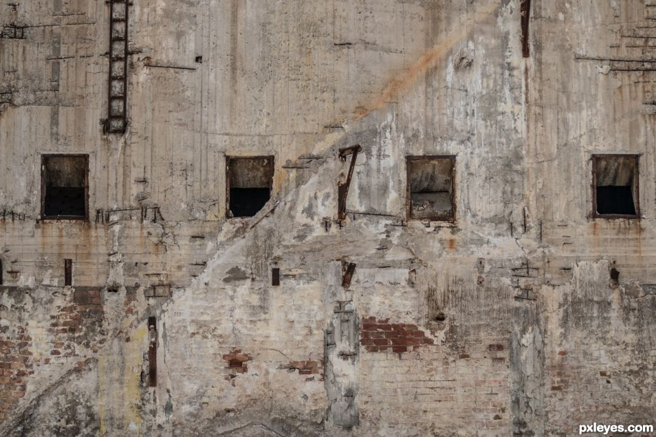 Abandoned factory windows