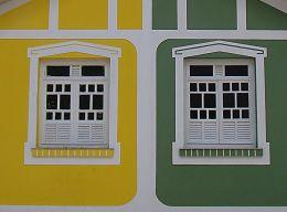 GREEN AND YELLOW WINDOWS