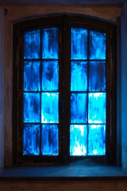 The blue window