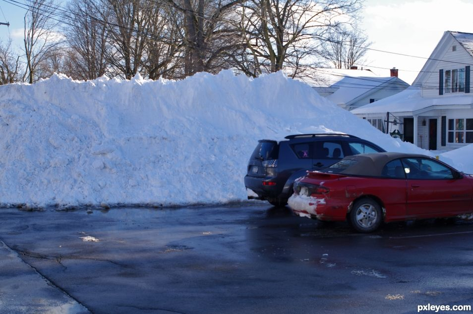 A Small Snow bank