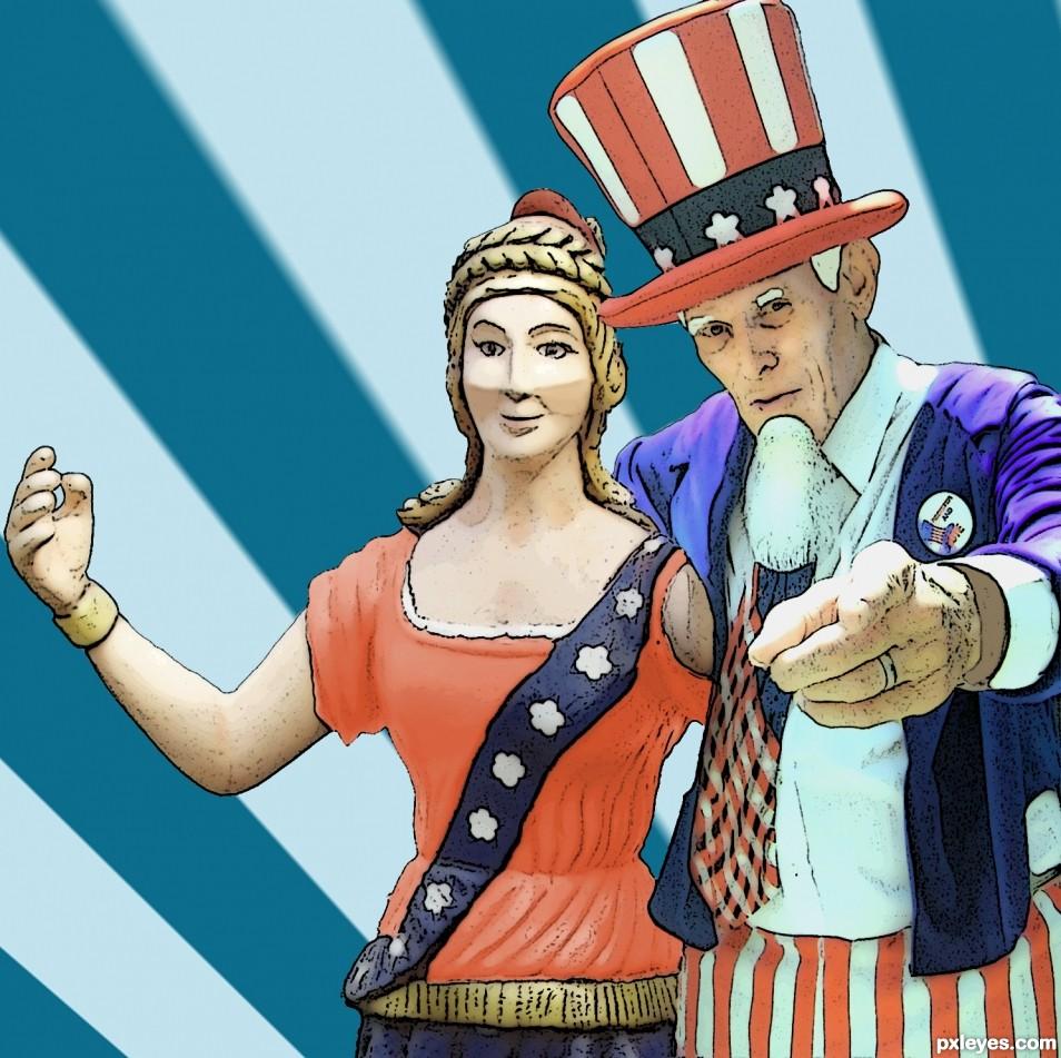 Patriotic Couple
