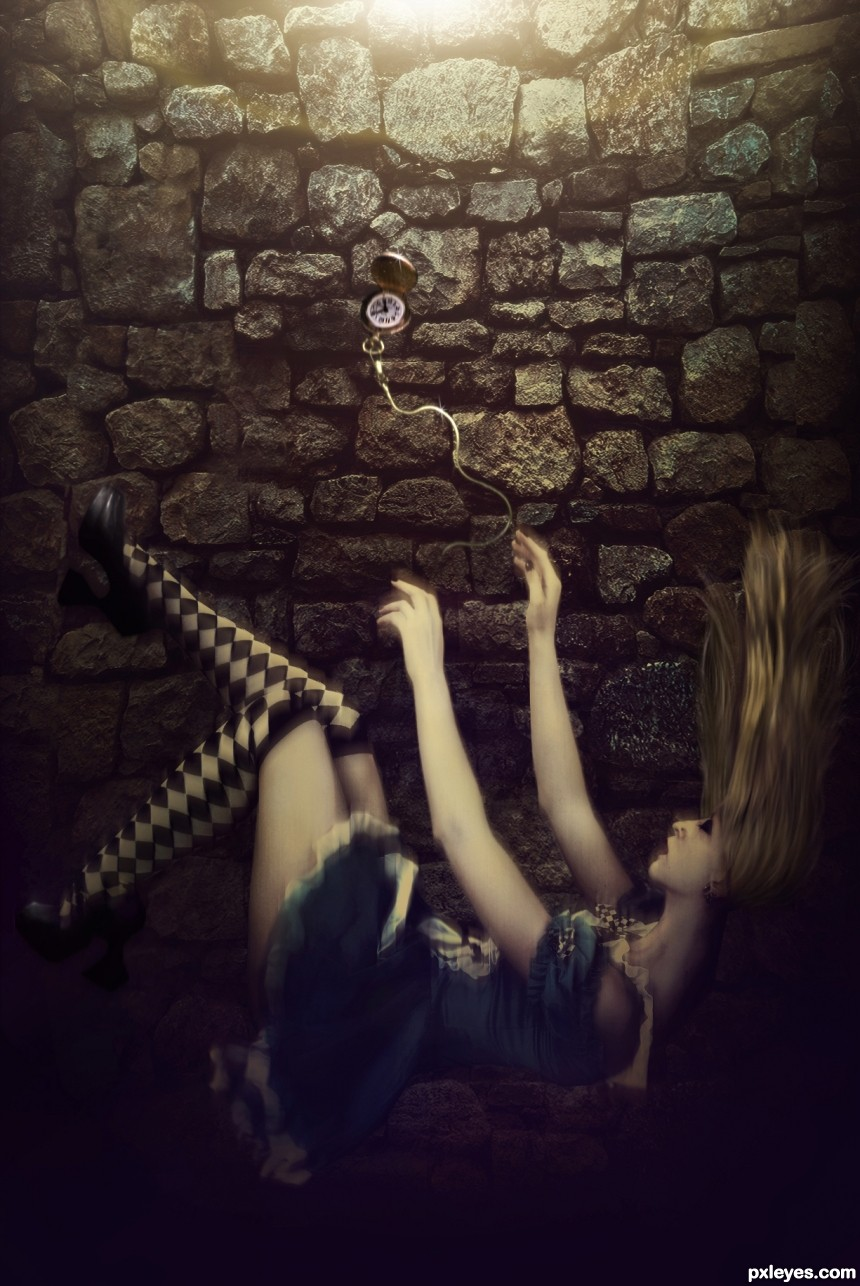 Alice Falling photoshop picture)
