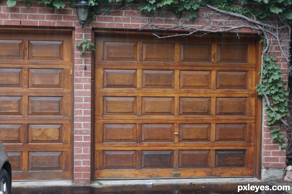 Rare Redwood Garage Doors