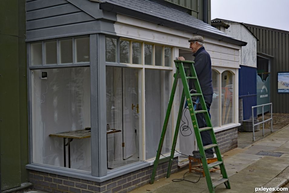 Painting The Shop