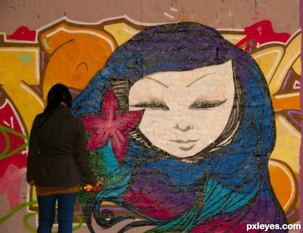 woman in tunnel