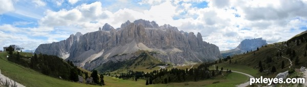 Dolomites Sella group
