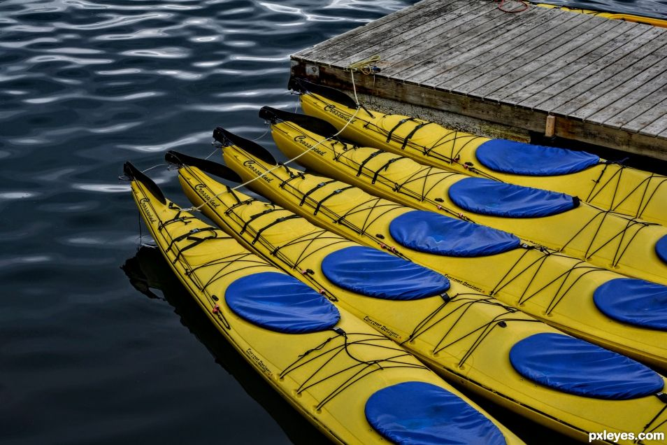 Yellow Kayaks