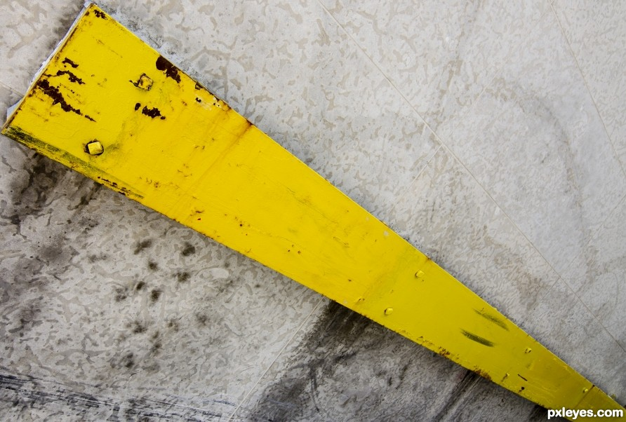 Yellow Metal Stripe