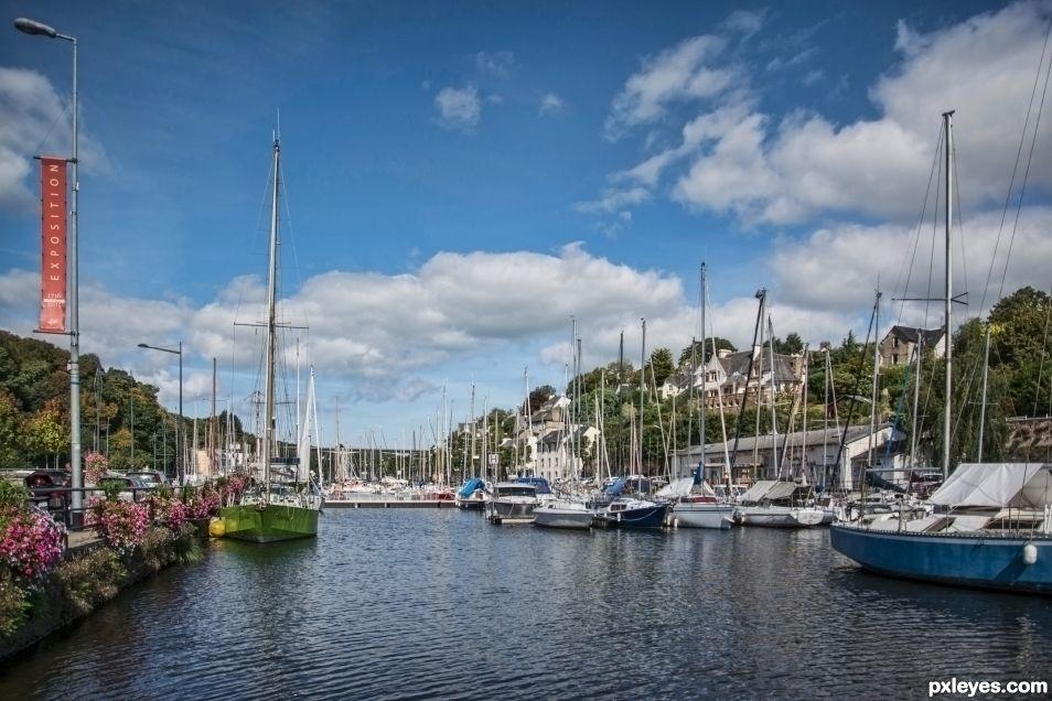 Morlaix, the marina