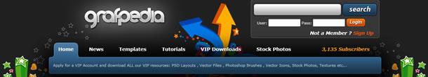 grafpedia.com site screenshot