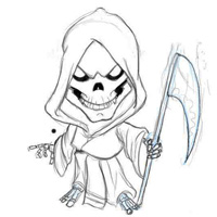 looking for grim reaper drawings are you well with this tutorial you not only will be able to draw your grim reaper but it is going to be a fun grim reaper