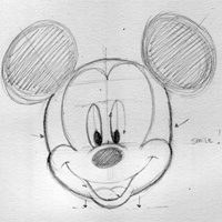 Disney Characters Mickey Mouse  TraditionalDrawing Tutorial
