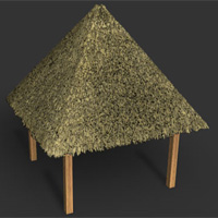 Create A Thatched Roof Cinema 4d Tutorial Pxleyes Com