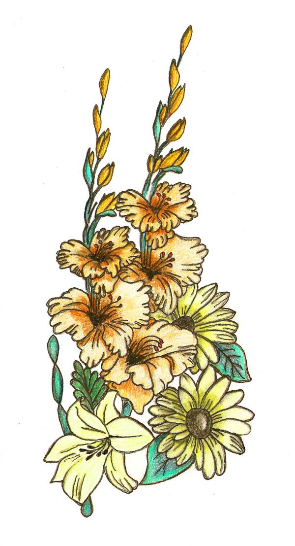 How To Make A Bouquet - Traditional-Drawing Tutorial - Pxleyes.com