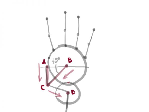 how to draw a proportioned hand structure
