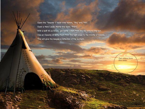 Traducido del ingles al español: cómo crear una puesta de sol india hermosa escenografía 1491_step17_4ade177ec2ff6