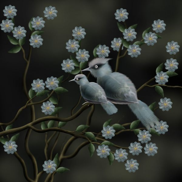 How To Create Beautiful Birds And Flowers Final Image