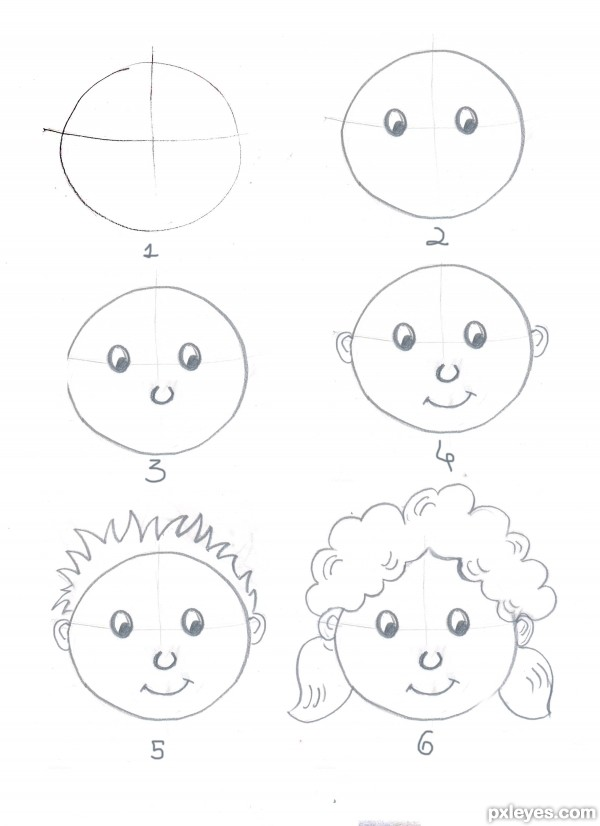 Simple tricks to draw your own cartoons traditional for How to draw things step by step for kids