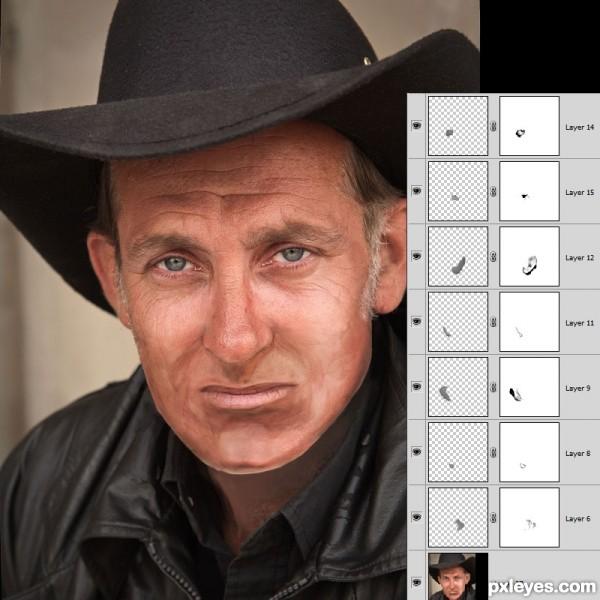 remove facial hair in photoshop cs4 jpg 1080x810