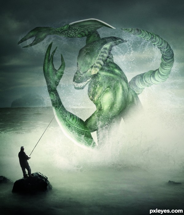 Create a Spectacular Fantasy Sea Monster