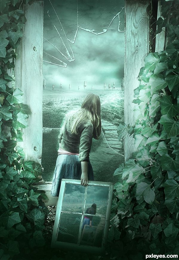 Create a Dark Fantasy Manipulation of a Broken Girl Final Image