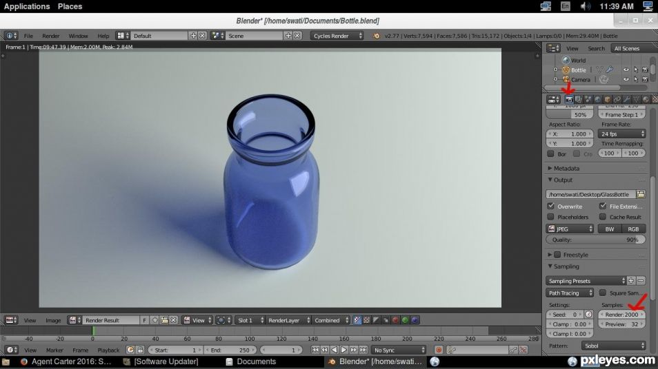 strong>How To Create A Glass Bottle In Blender</strong