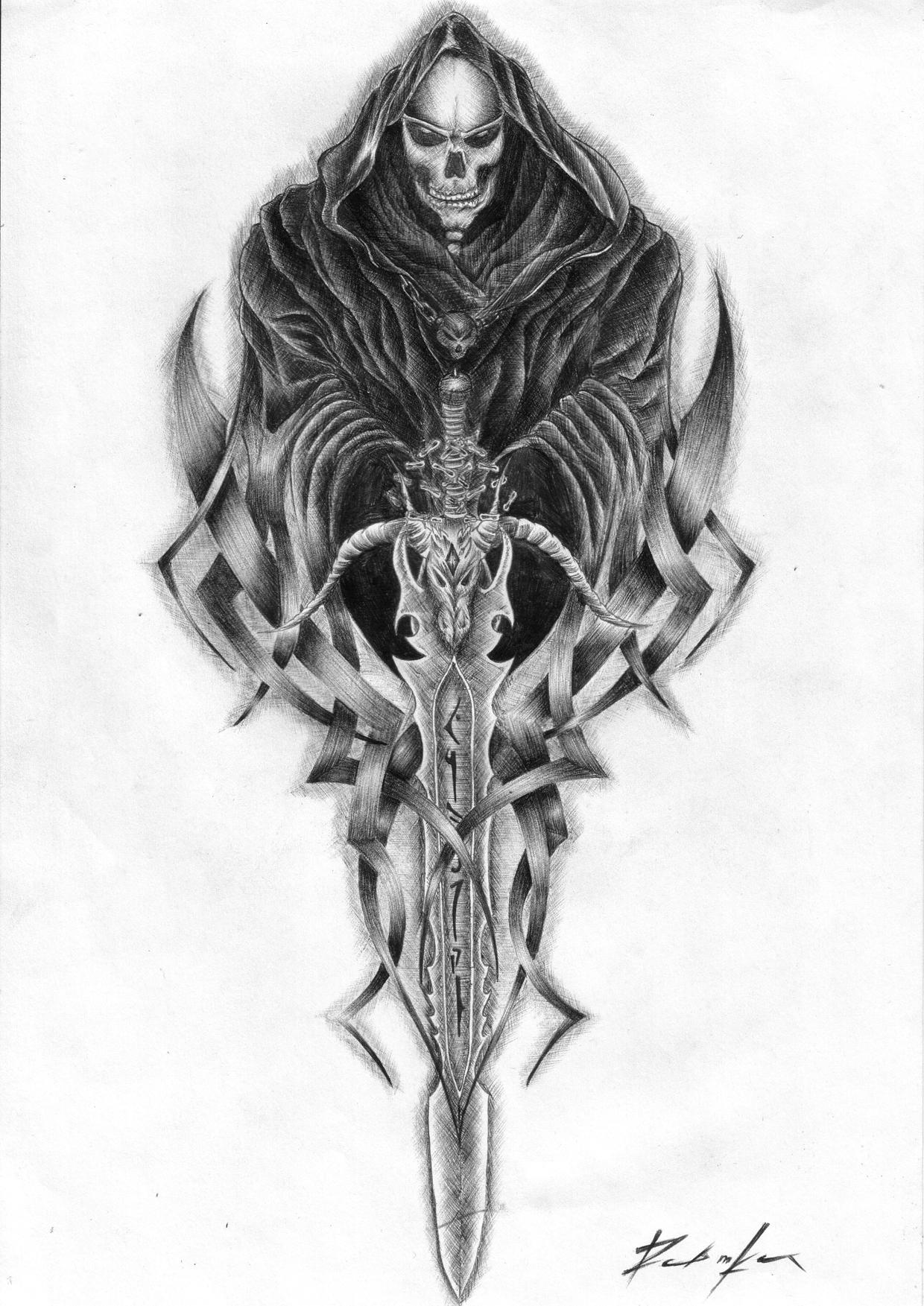 Grim Reaper Tattoo Design Picture In Album Traditional Art Pxleyes