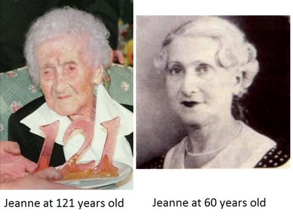 Jeanne Calment - 122 years, 164 days Photoshop Picture