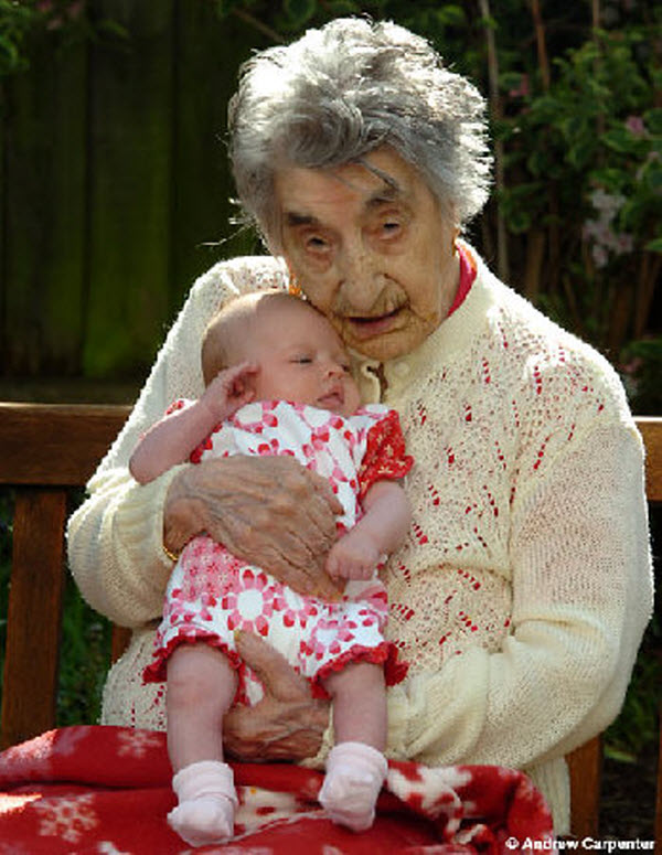 Lucy Hannah - 117 years, 248 days Photoshop Picture